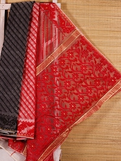 Multicoloured Patterned Cotton Silk Saree - Dharitri's Choice