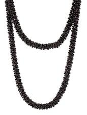 Black Beaded Long Necklace - Voylla