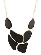 Black Abstract Statement Necklace - By