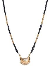 Beaded Black And Gold Mangalsutra - Sindoora