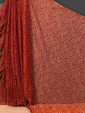 Art Silk Floral Print Sheer Saree - Nanda Silk Mills
