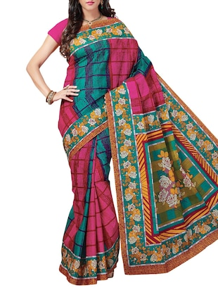 multi cotton saree