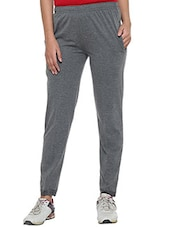 solid grey cotton track pant -  online shopping for Track pants