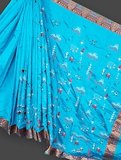 Pallu Printed Jacquard Border Saree - Loom Story