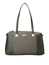 Textured Olive Green Faux Leather Handbag - Peperone