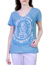 blue cotton  tee -  online shopping for Tees