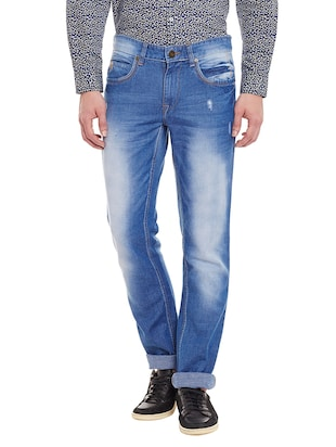 blue denim narrow jeans