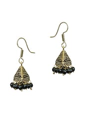 Black Brass Earring - By