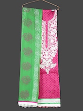 Embroidered Cotton Pink Ethnic Suit Set - Rajasthani Sarees