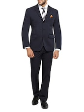 solid navy blue cotton suit -  online shopping for Suits (Business and Party)