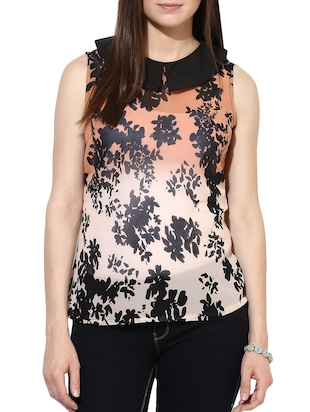 pink georgette regular top -  online shopping for Tops