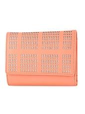 Cut Work Leatherette Wallet - By