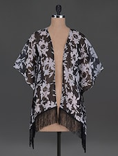 Monochrome Sheer Polygeorgette Beach Shrug