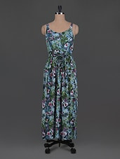 Floral Printed Cotton Maxi Dress - Oxolloxo