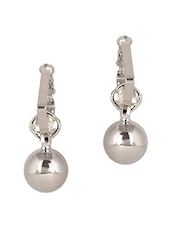 Silver Drop Earrings - By