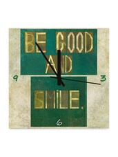 Be Good And Smile Wall Clock - Height Of Deisgns