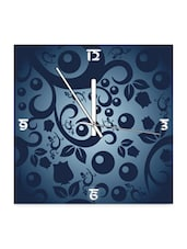 Printed Square Wood Wall Clock - Height Of Deisgns