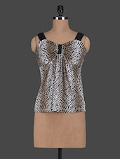 Sleeveless Animal Printed Viscose Top - Glam And Luxe