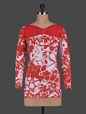 Long Sleeves Floral Printed Viscose Top - Glam And Luxe