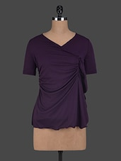 Shorts Sleeves Angrakha Inspired Viscose Tops - Glam And Luxe