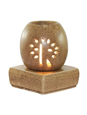 Brown Ceramic Aroma Oil Electric Diffuser - Brahmz