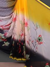 Floral Printed With Embroidered Pallu Saree - Shrimatiji Sarees