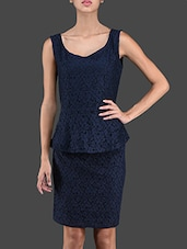Sleeveless Peplum Lace Top & Skirt - ABITI BELLA