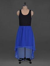 Round Neck  Georgette Asymmetric Dress - Harpa
