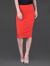 Plain Polyester Pencil Skirt - Harpa