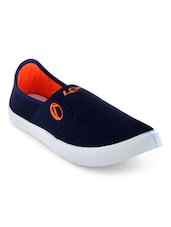 navy blue canvas slip on shoe  available at Limeroad for Rs.499