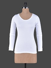Long Sleeves Plain Cotton Knit Tee - Fashionexpo