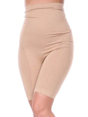 solid nude cotton shaper brief shapewear