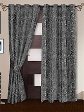 Grey Printed Polyester Door Curtains (Set Of 2) - Story @ Home