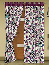 Cream Printed Polyester Door Curtains (Set Of 2) - Story @ Home