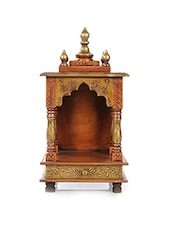 brown colored wooden mandir -  online shopping for Mandirs