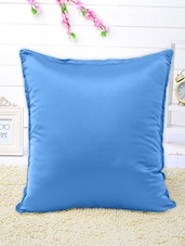 Set Of 5 Solid Blue Cushion Covers - By