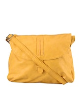 Flap Folding Leatherette Sling Bag - Baggit