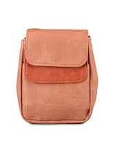 Two Tone Leatherette Sling Bag - Baggit