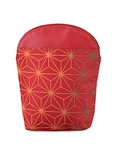 Geometric Pattern Leatherette Sling Pouch - Baggit