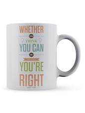 """Whether...You're Right"" Quote Ceramic Mug - Lab No. 4 - The Quotography Department"