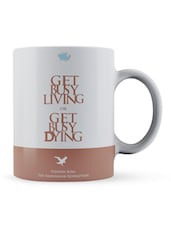 """Get Busy...Dying"" Quote Ceramic Mug - Lab No. 4 - The Quotography Department"