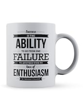 """Success Is���enthusiasm""  Quote Ceramic Mug - Lab No. 4 - The Quotography Department"