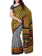 Paisley Print Art Silk Saree - DIVA FASHION