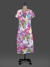 Pink Printed Poly Georgette Dress - By