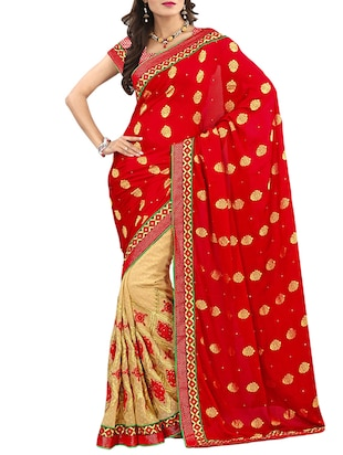 multi silk blend half and saree