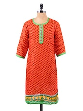 Ethnic Pattern Printed Cotton Kurta - Salwar Studio