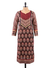 Block Printed Long Sleeves Cotton Kurta - Salwar Studio