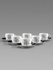 Printed  Saucer Tea Cup Set - Clay Craft