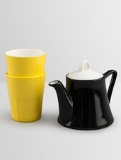 Solid Color Textured Tea Cup Set - By
