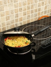 Hard Anodized Aluminium Frying Pan With Lid - Pebbleyard